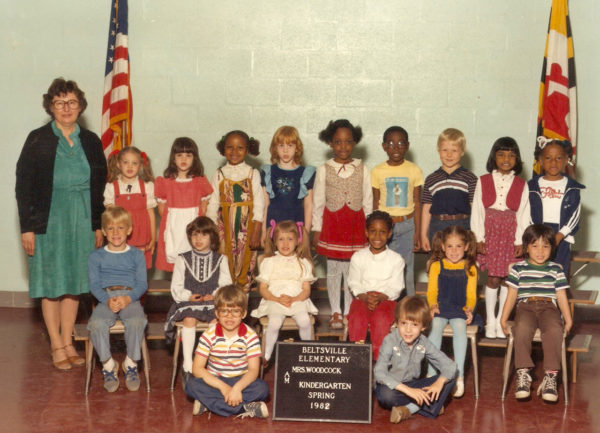 Mrs. Woodcock. Kindergarten. 1982